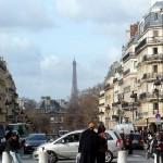 パンテオンから見るエッフェル塔(パリ)